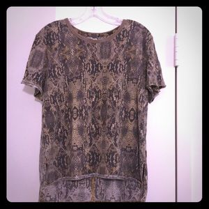 Free People snake pattern t shirt